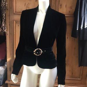 Marciano black velvet jacket NWT